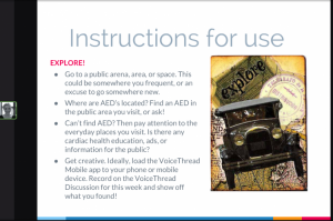 Screenshot of DIrections for Virtual Field Trip in VoiceThread Mobile