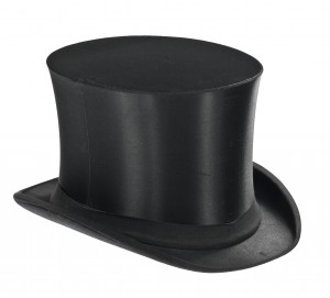 Black top-hat on white background - isolated