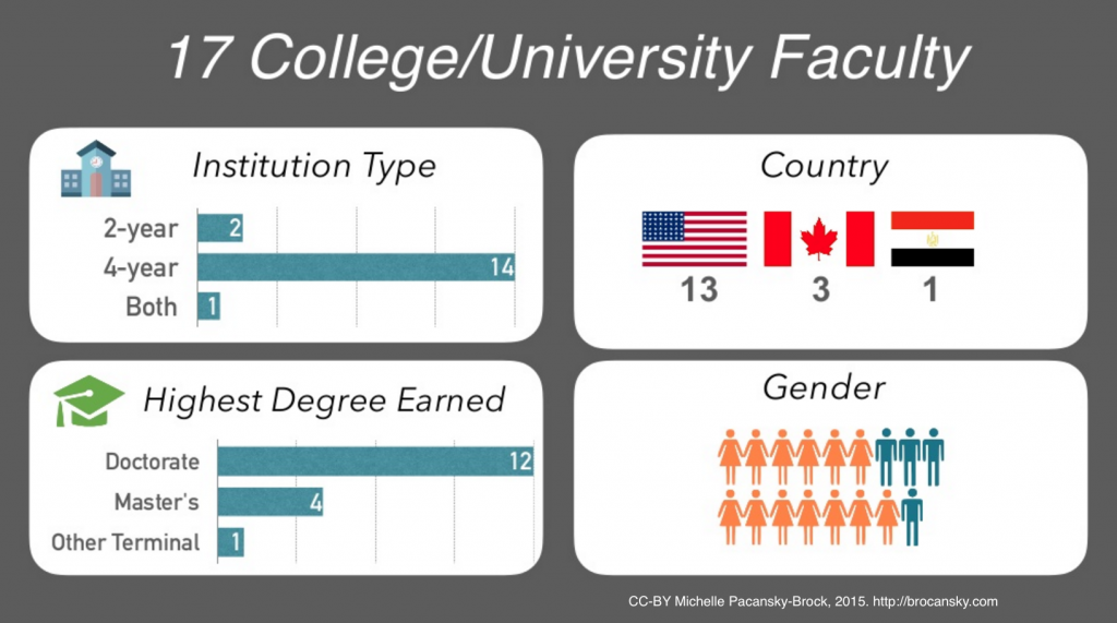 Graphic showing the demographics of the pilot study participants about Professors and Vulnerability.