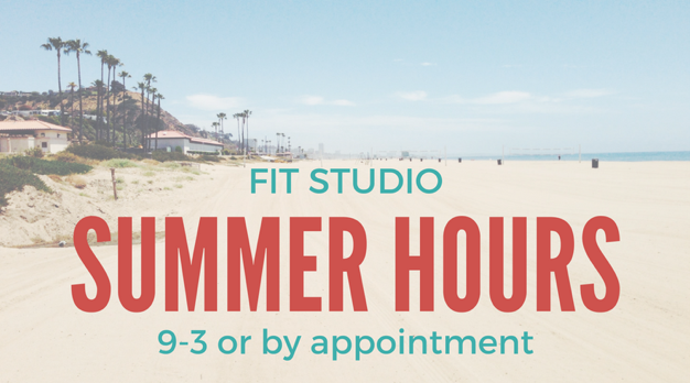 Summer Hours M-F 9-3