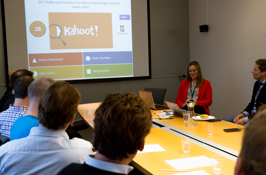 Group completing a Kahoot activity
