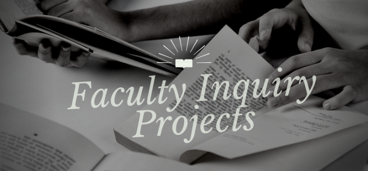 Of Faculty Inquiry Projects (FIPs), Curiosity, and Cats