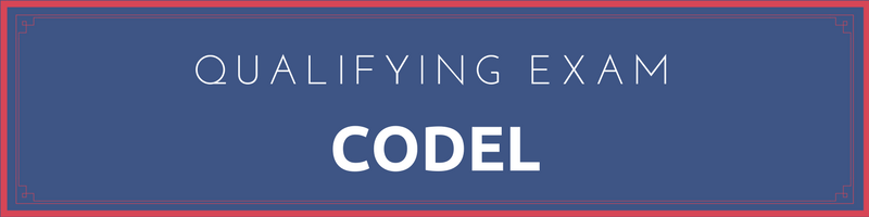CODEL Qualifying Exam Banner