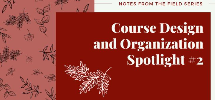 Course Organization and Design Spotlight #2