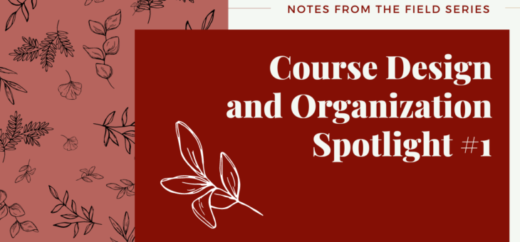 Course Organization and Design Spotlight #1