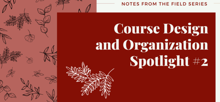 Course Organization and Design Spotlight #2
